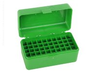 MTM Case-Gard R-50 50 Round Medium Rifle Ammo Box Green